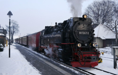 99 7247-2. Германия, станция Wernigerode. Автор: stephengillettphotos. Дата: 7 января 2016 г.