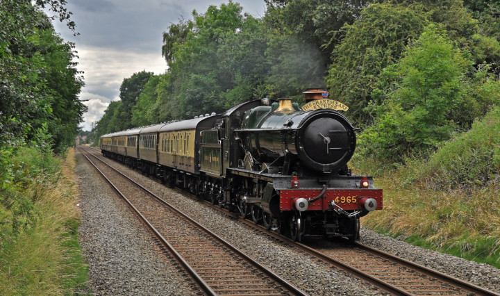 GWR 4900 4965. Великобритания, перегон Avon - Birmingham. Автор: garstangpost.t21. Дата: 31 июля 2016 г.