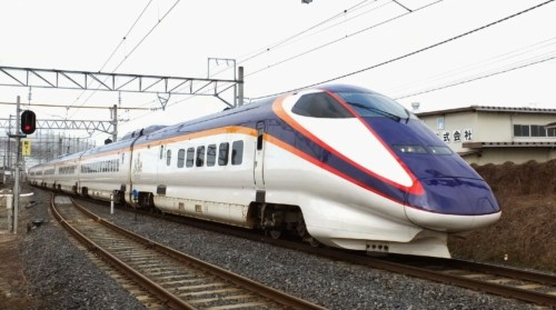 E3-1000 L54. Япония, станция Kita-Yamagata. Автор: ttzshirasawa. Дата: 7 марта 2015 г.