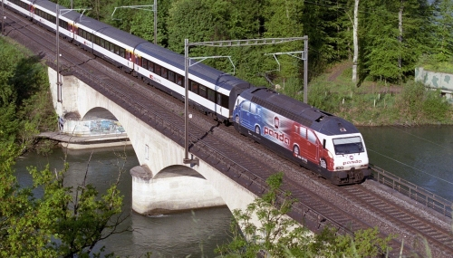 460 001-1. Швейцария, кантон Ааргау, перегон Бругг — Турги. Автор: Ваня 543. Дата: 7 мая 2013 г.