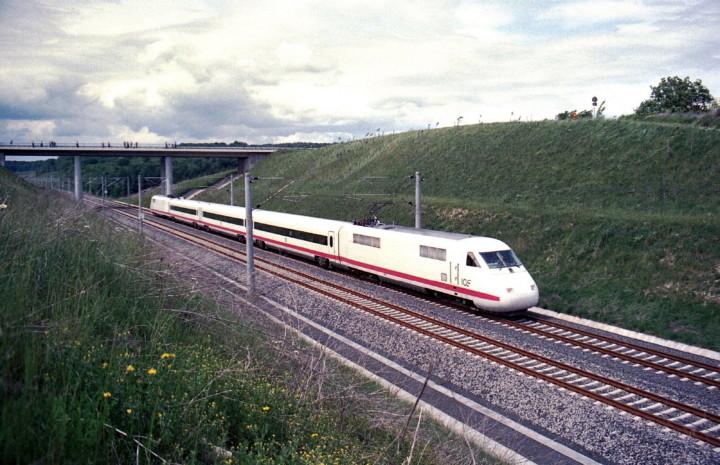 Испытания ICE-V. Германия, Fulda to Würzburg. Автор: Klaus Trencsik. Дата: 29 мая 1988 года