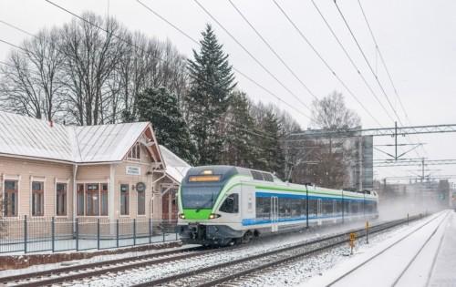Sm5-21. Финляндия, Уусимаа, перегон Хуопалахти - Леппяваара. Автор: tramp. Дата: 6 февраля 2017 г.