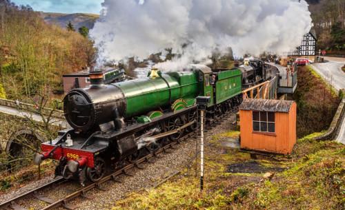 GWR 6959 6960. Великобритания, Berwyn. Автор: Allan Stodd. Дата: 4 марта 2017 г.
