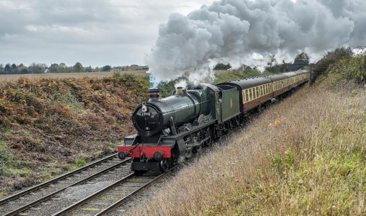 GWR 6959 6990. Великобритания, Loughborough - Leicester North. Автор: Alan Burkwood. Дата: 16 ноября 2019 г.