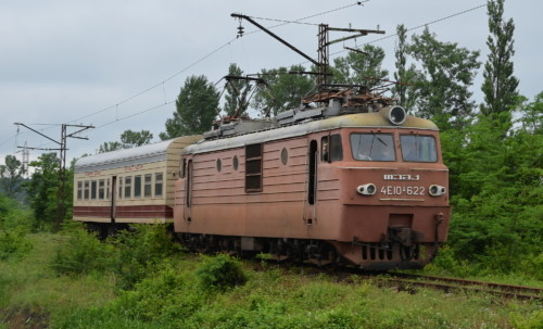 4E10-622. Грузия, станция Tskaltubo. Автор: John Mulrine. Дата: 21 мая 2014 г.